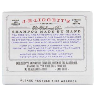J.R.LIGGETT'S Tea Tree & Hemp Oil Shampoo Bar
